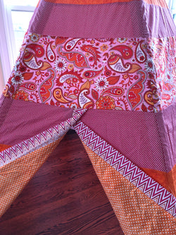 Deluxe Pink, Orange, Red, and Pink Paisley Teepee