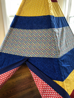 Blue, Red, and Yellow Primary Colors Deluxe Teepee