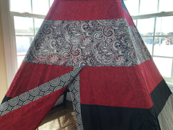 Deluxe Geometric Red Black White Teepee