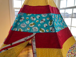 Deluxe Teepee made from Dr. Seuss Licensed Fabric
