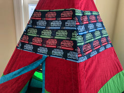 Classic Red Green Teepee with Star Wars Licensed Fabric