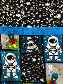 Reading Pocket Pillow Astronaut Space Rocket Ship