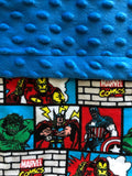Superhero Comics Graphic Novel Blanket and Nap Mat Set with Marvel Licensed Fabric