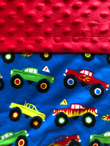 Monster Trucks Blanket and Nap Mat Set