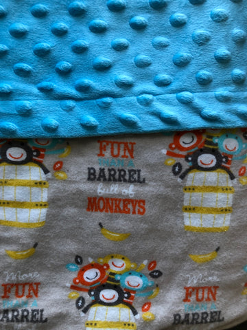 Barrel of Monkeys Blanket and Nap Mat Set