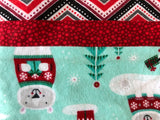 Polar Bear and Penguin Winter Holiday Blanket and Nap Mat Set