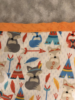 Reading Pocket Pillow Fox Teepees Arrows