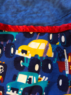 Reading Pocket Pillow Monster Trucks Red Blue