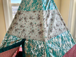 Classic Elephants Teal and Pink Moroccan Teepee