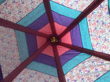 Deluxe Rainbow Princess in Tower with Butterflies Pink Purple Blue Teepee