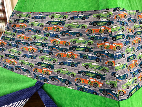 Deluxe Racecar Cars Green Blue and Orange Teepee
