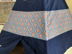 Deluxe Geometric Navy Blue and Orange Teepee