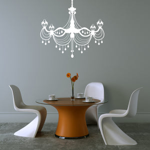 Chandelier Dining Room Vinyl Wall Decal
