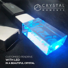 Load image into Gallery viewer, Personalized Crystal Pen Drive - Crystal Moments