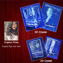 Load image into Gallery viewer, Rectangle 3D Crystal Block - Crystal Moments
