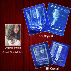 Rectangle 3D Crystal Block - Crystal Moments