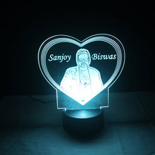 Load image into Gallery viewer, 3d Illusion Personalized Lamp RGB Light