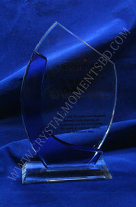 Blue Accented Crystal Plaque - Crystal Moments