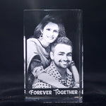 Personalized 3d Laser Gifts Engraved Crystal Block | Crystal Moments