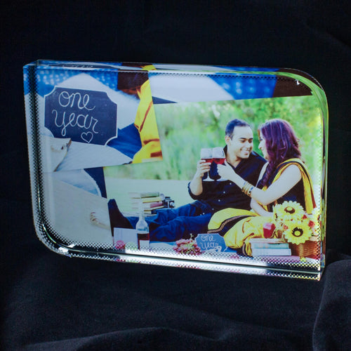 Rectangle Color Crystal Photo Frame - Crystal Moments