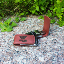 Load image into Gallery viewer, customized-laser-logo-engraved-leather-pen-drive