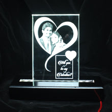 Load image into Gallery viewer, Crystal Photo Frame with LED Base - Crystal Moments