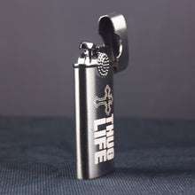 Load image into Gallery viewer, laser engraved personalized black metal lighter