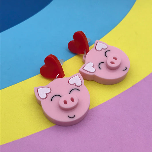 Happy Pigs earrings