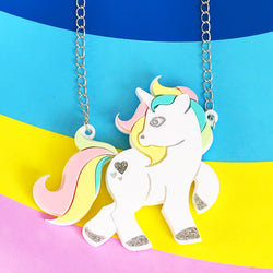 acrylic unicorn necklace