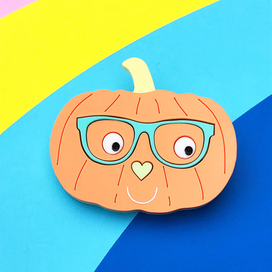 Mr Pumpkin Brooch