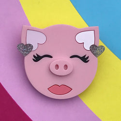 Glam Pig brooch