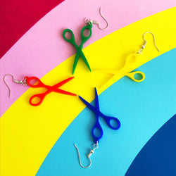 Drop Scissor Earrings