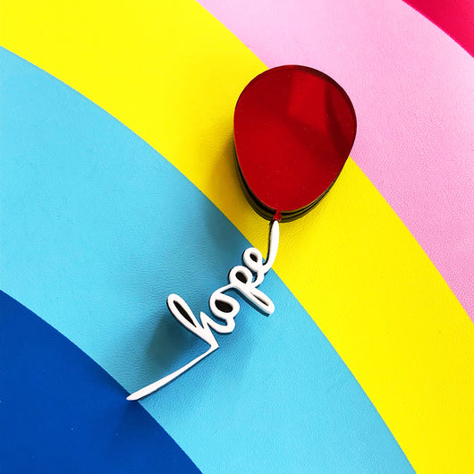 Hope Balloon Brooch
