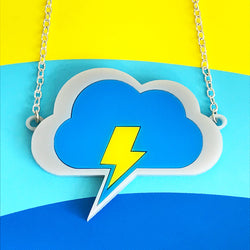 thundercloud acrylic necklace
