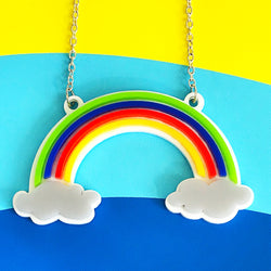 acrylic rainbow necklace