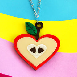 Perspex acrylic apple necklace