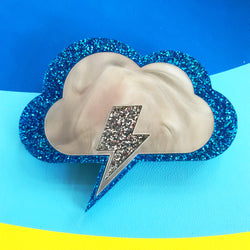 Thunderbolt Brooch with Edge