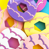 Party ring brooches