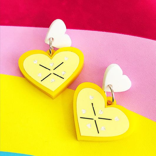 lemon acrylic earrings