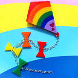 Rainbow Kite Brooch