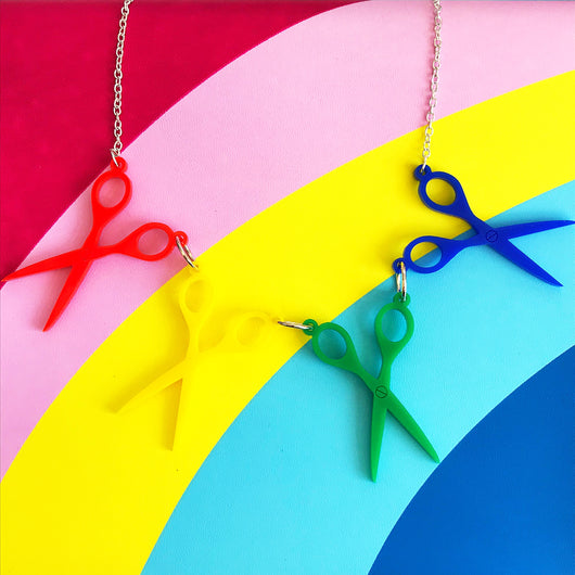 Primary Scissor Necklace