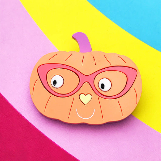 Mrs Pumpkin Brooch