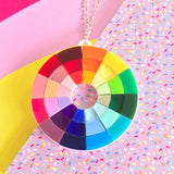 art colour wheel acrylic jewellery