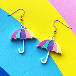 acrylic umbrella earrings