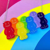 Perspex acrylic jelly baby necklace