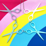 Blues Scissor Necklace