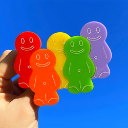 Jelly Baby Friends Acrylic Brooch