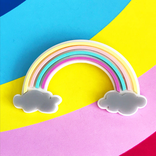 Pastel Rainbow Brooch
