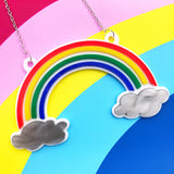 Perspex acrylic rainbow necklace
