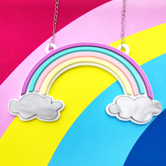 Statement Pastel Rainbow Necklace